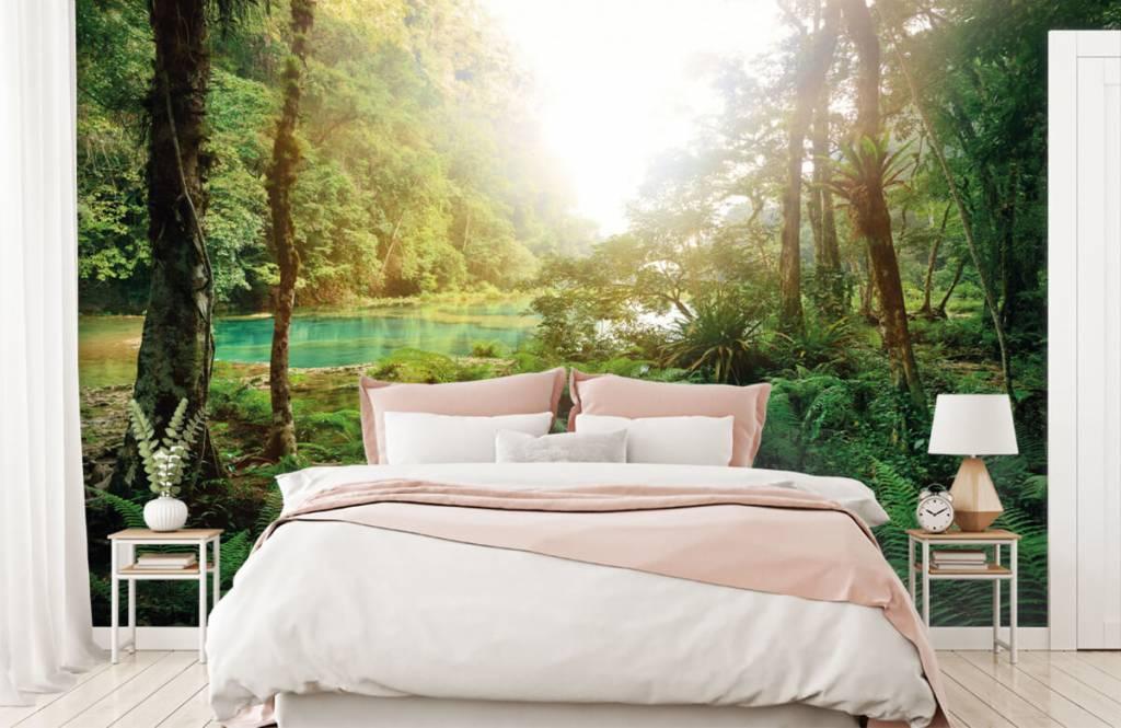 Bos behang - Meer in de jungle - Slaapkamer 2