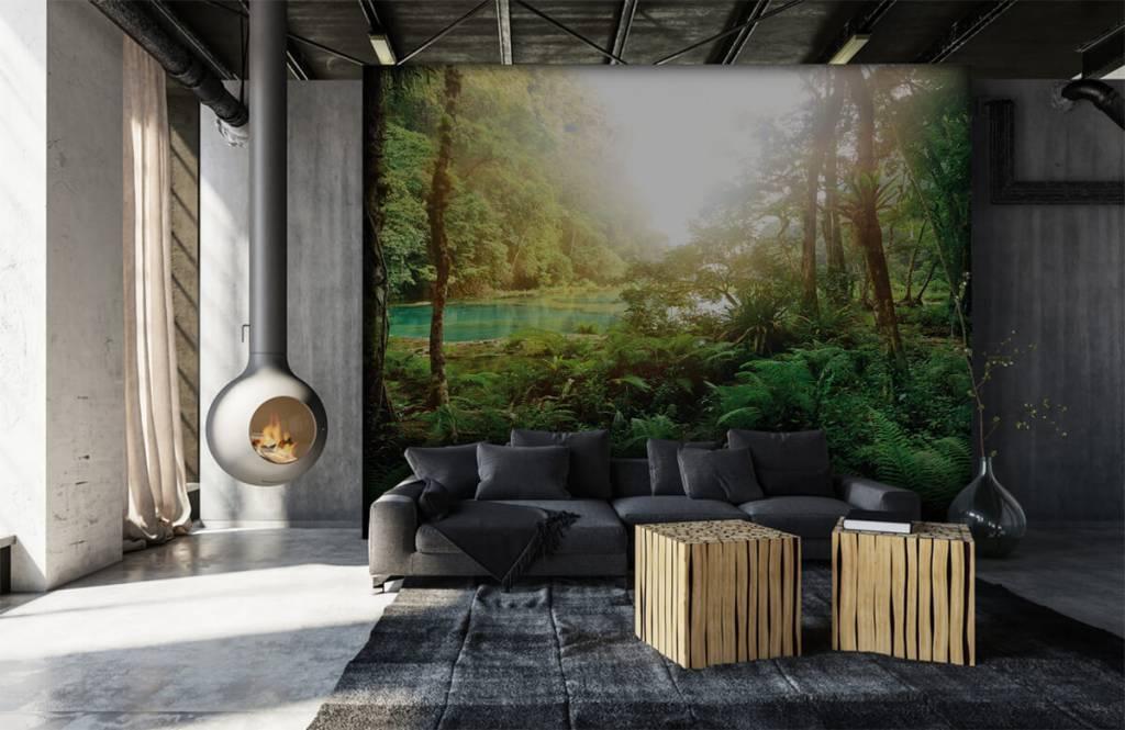Bos behang - Meer in de jungle - Slaapkamer 7