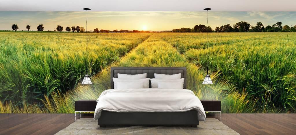 Landschap - Weiland met bandensporen - Slaapkamer 2