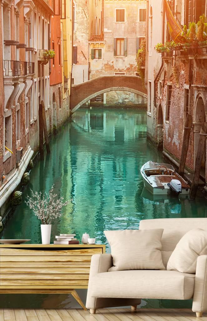 Steden behang - Zomerse dag in Venetië - Woonkamer 1