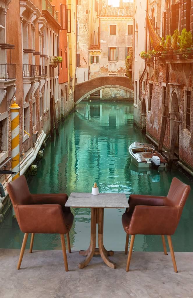 Steden behang - Zomerse dag in Venetië - Woonkamer 3