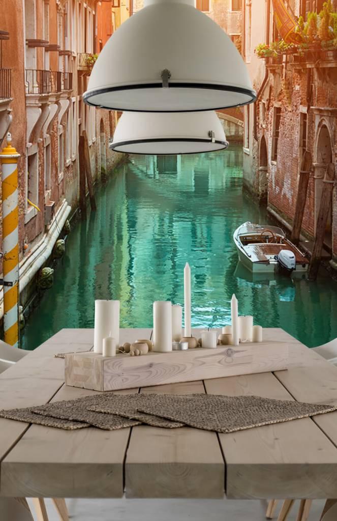 Steden behang - Zomerse dag in Venetië - Woonkamer 4