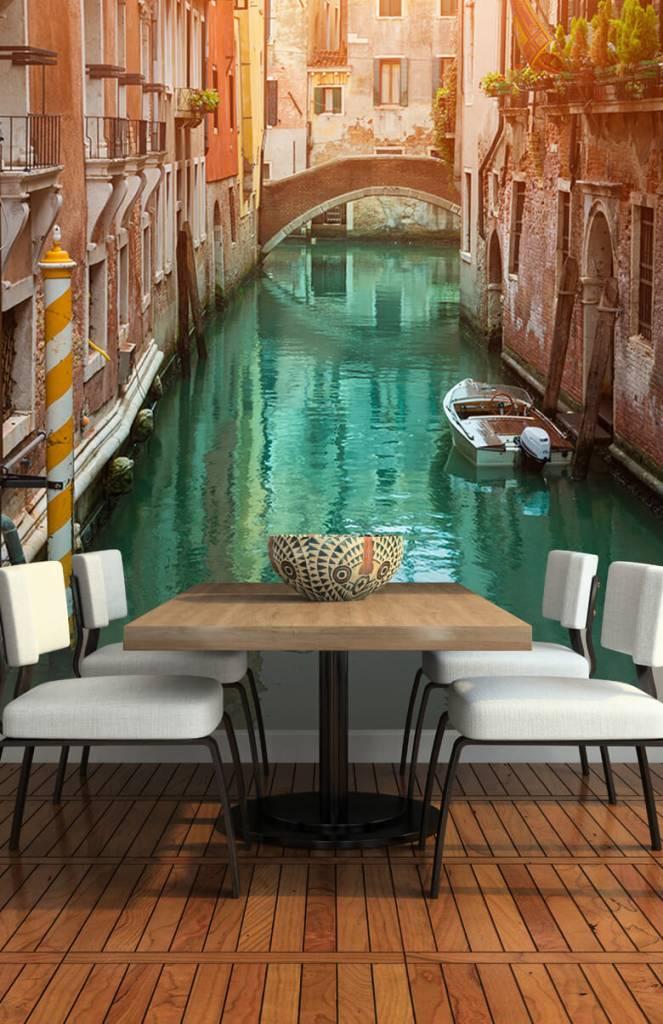 Steden behang - Zomerse dag in Venetië - Woonkamer 5