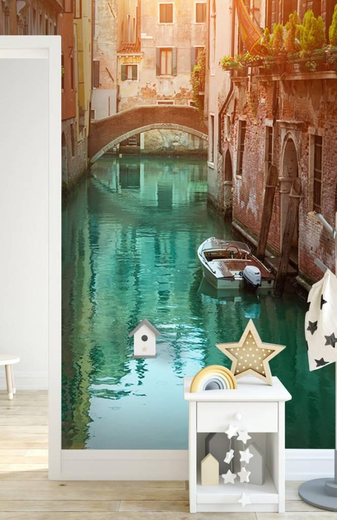 Steden behang - Zomerse dag in Venetië - Woonkamer 6