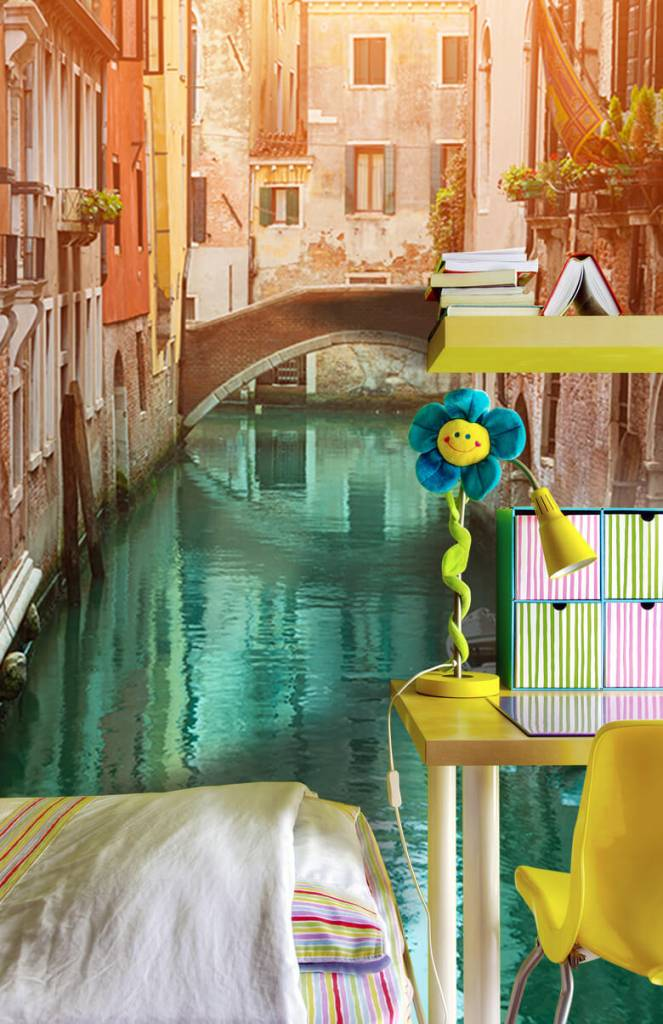 Steden behang - Zomerse dag in Venetië - Woonkamer 7