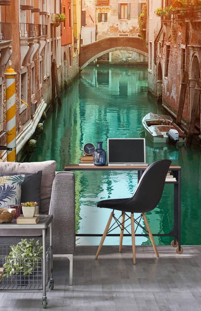 Steden behang - Zomerse dag in Venetië - Woonkamer 8