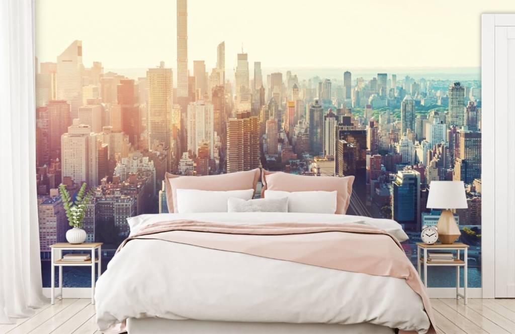 Retro behang - New York City - Tienerkamer 2