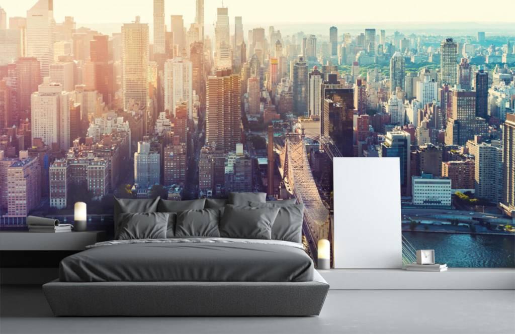 Retro behang - New York City - Tienerkamer 3