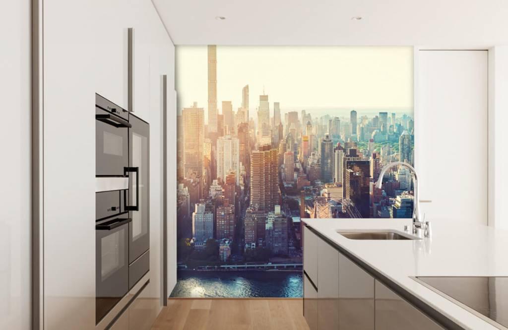 Retro behang - New York City - Tienerkamer 4
