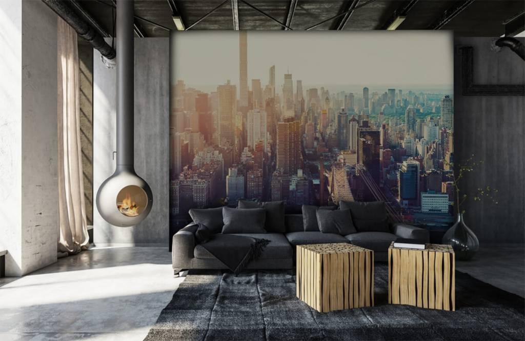 Retro behang - New York City - Tienerkamer 6