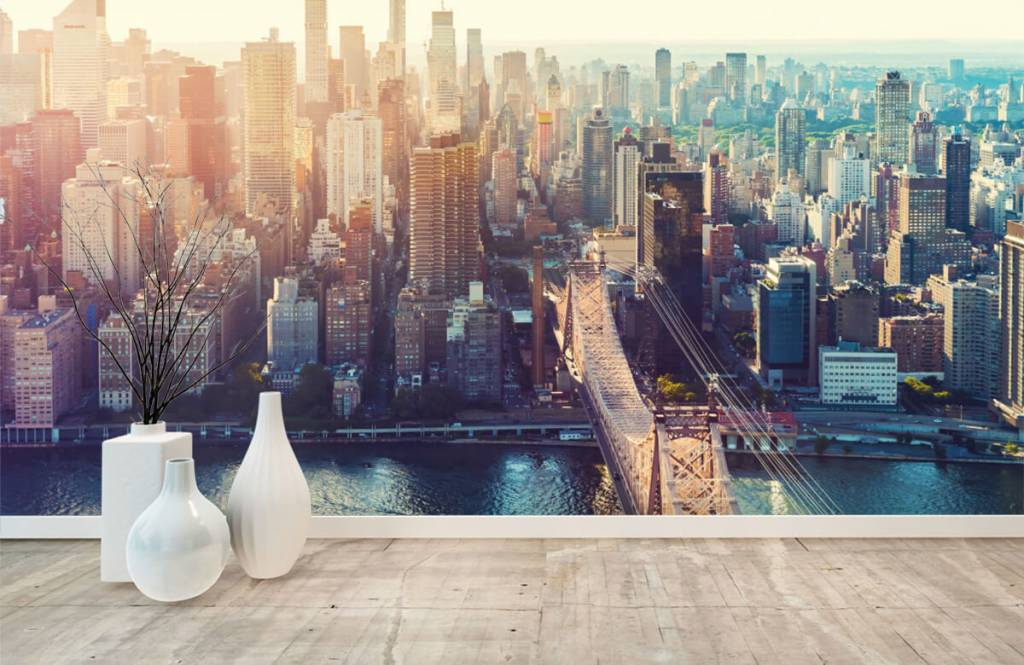 Retro behang - New York City - Tienerkamer 8
