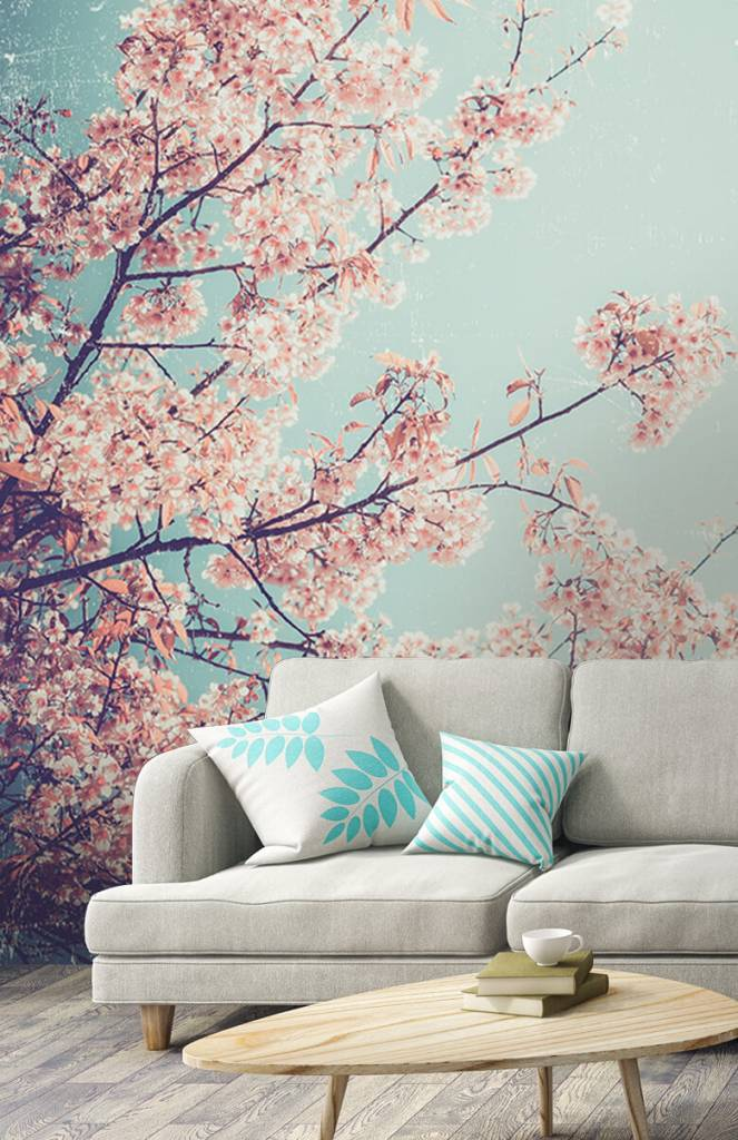 Bloesem - Vintage Japanse bloemen - Tienerkamer 2