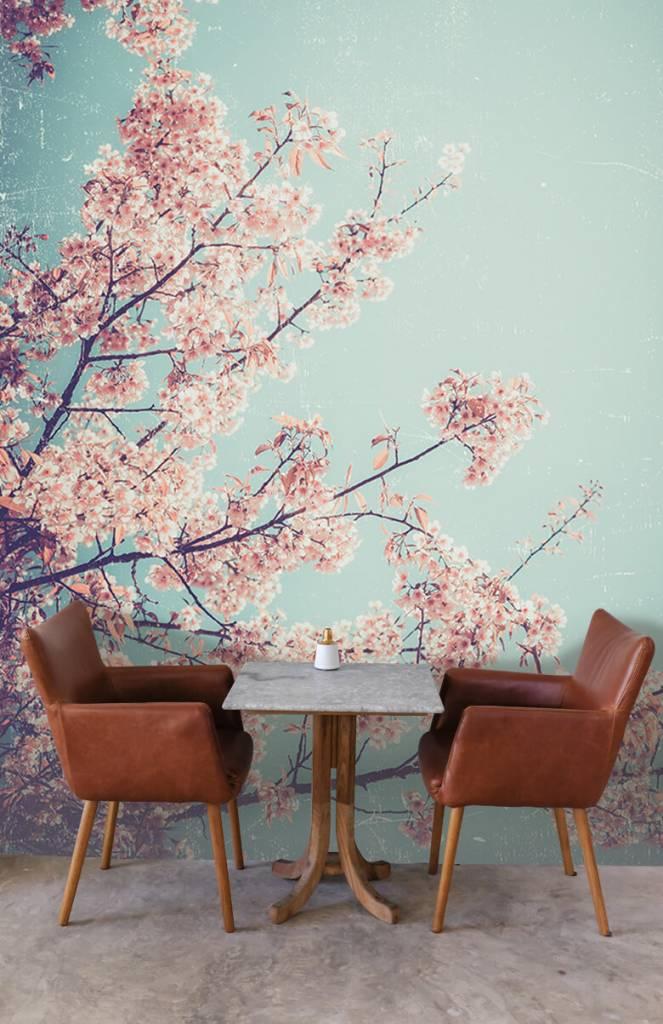 Bloesem - Vintage Japanse bloemen - Tienerkamer 3