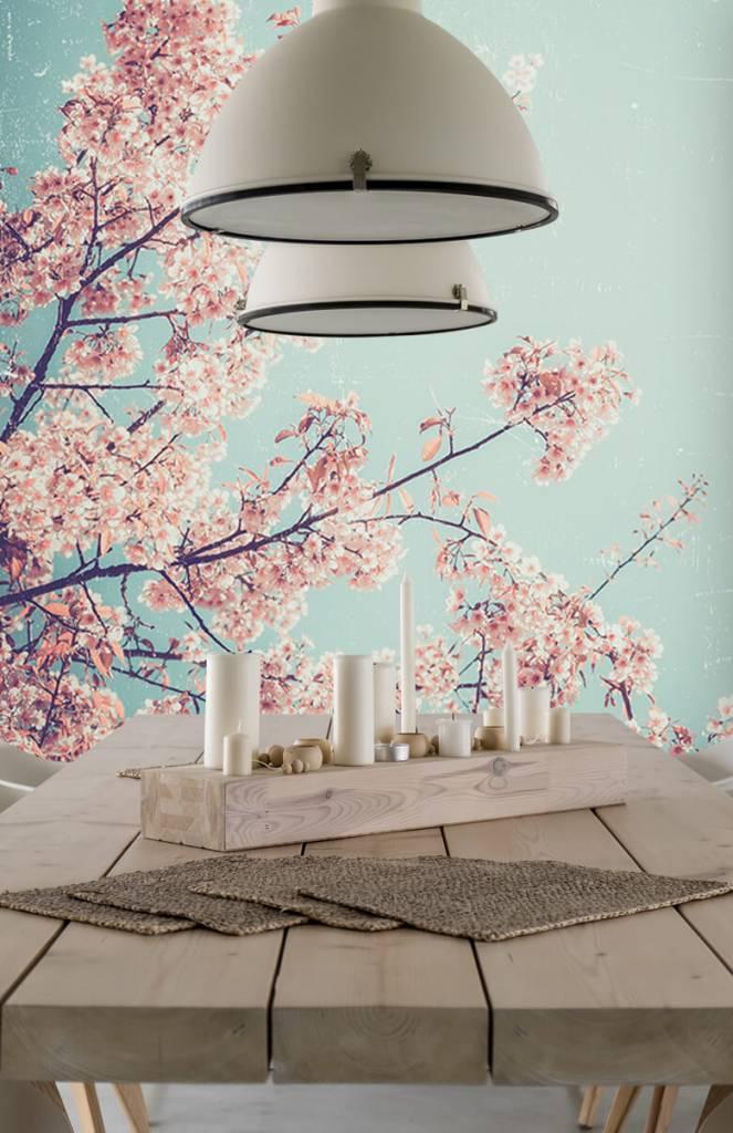 Bloesem - Vintage Japanse bloemen - Tienerkamer 4