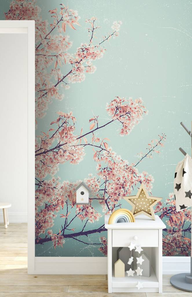 Bloesem - Vintage Japanse bloemen - Tienerkamer 5