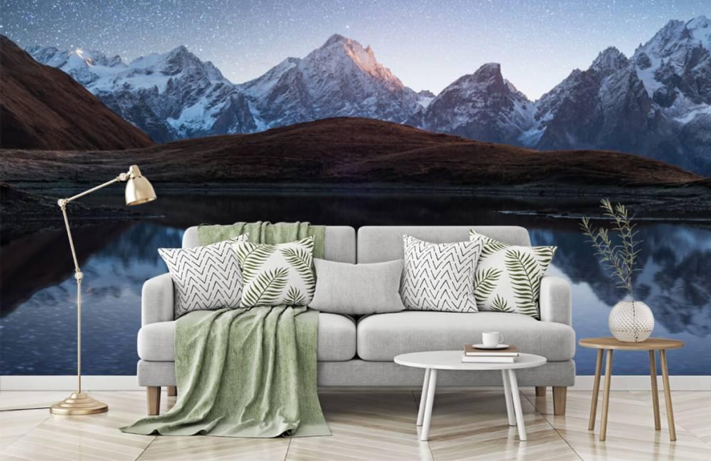 Winter - Bergen met sneeuw bij nacht - Slaapkamer 4