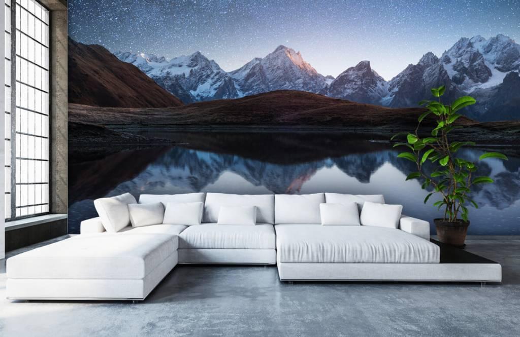 Winter - Bergen met sneeuw bij nacht - Slaapkamer 5