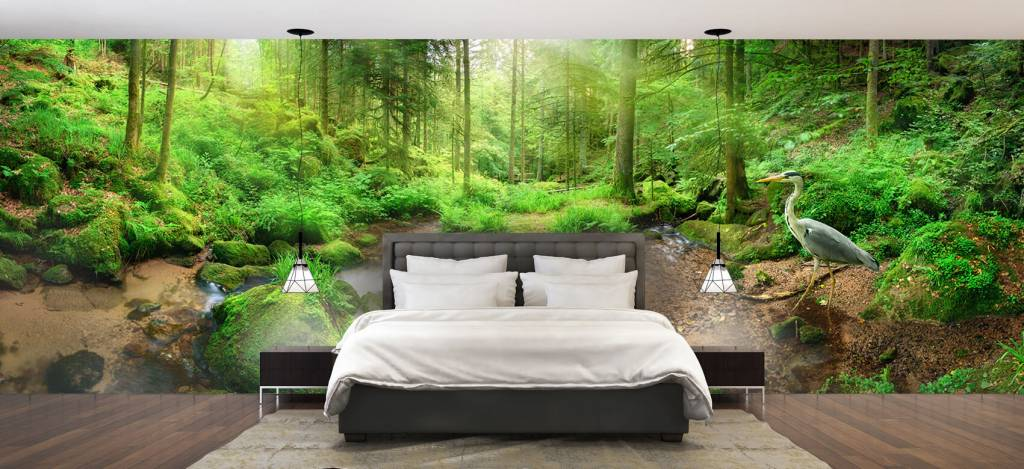 Bos behang - Betoverend boslandschap - Hobbykamer 1