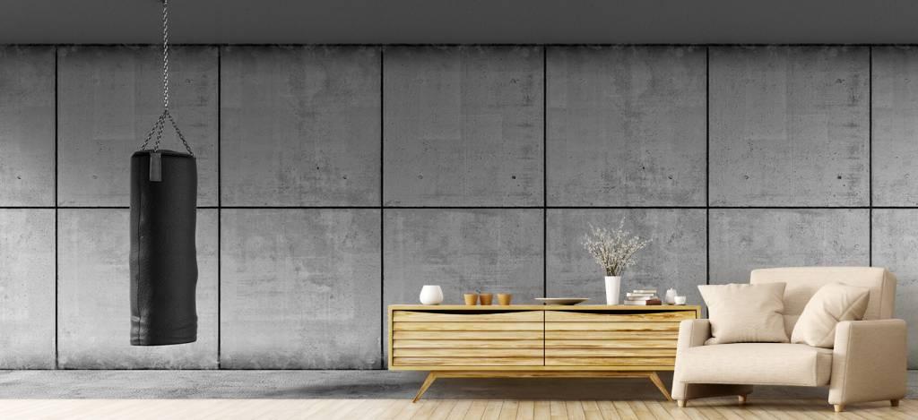 Betonlook behang - Bokszak met betonnen achtergrond - Directie 5