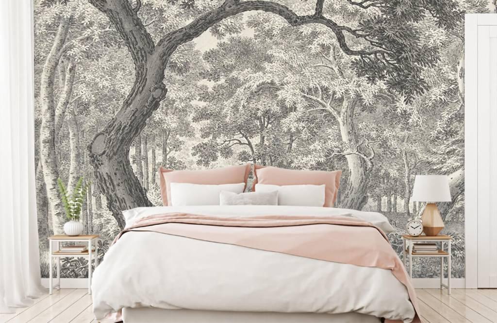 Bos behang - Bosgezicht met twee herten - Slaapkamer 5
