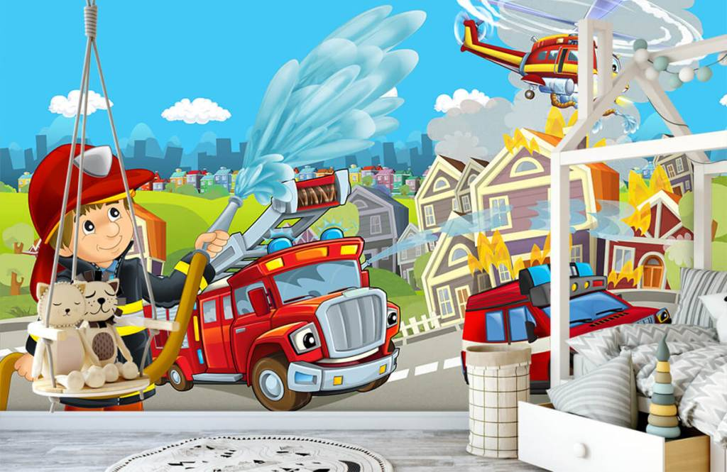 Illustraties - Brandweer kinderkamer - Kinderkamer 1