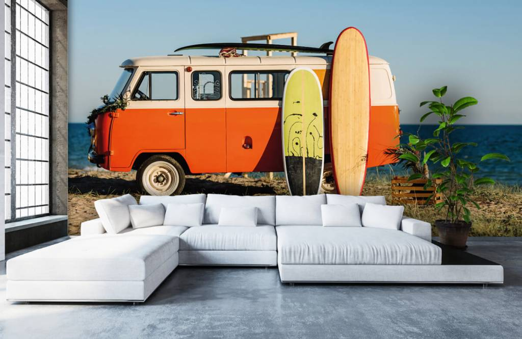 Transport - Bus met surfplank - Kantine 2