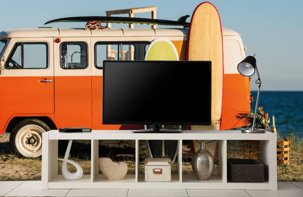 Transport - Bus met surfplank - Kantine 5