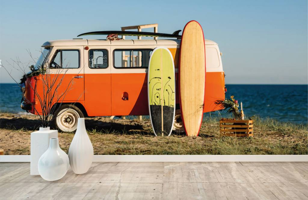 Transport - Bus met surfplank - Kantine 6