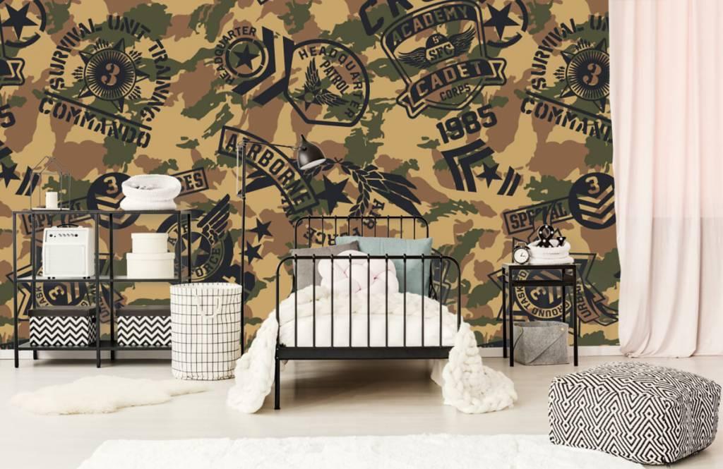 Overige - Camouflage met logo's - Kinderkamer 1