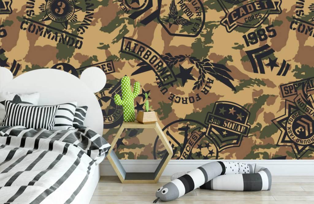 Overige - Camouflage met logo's - Kinderkamer 2