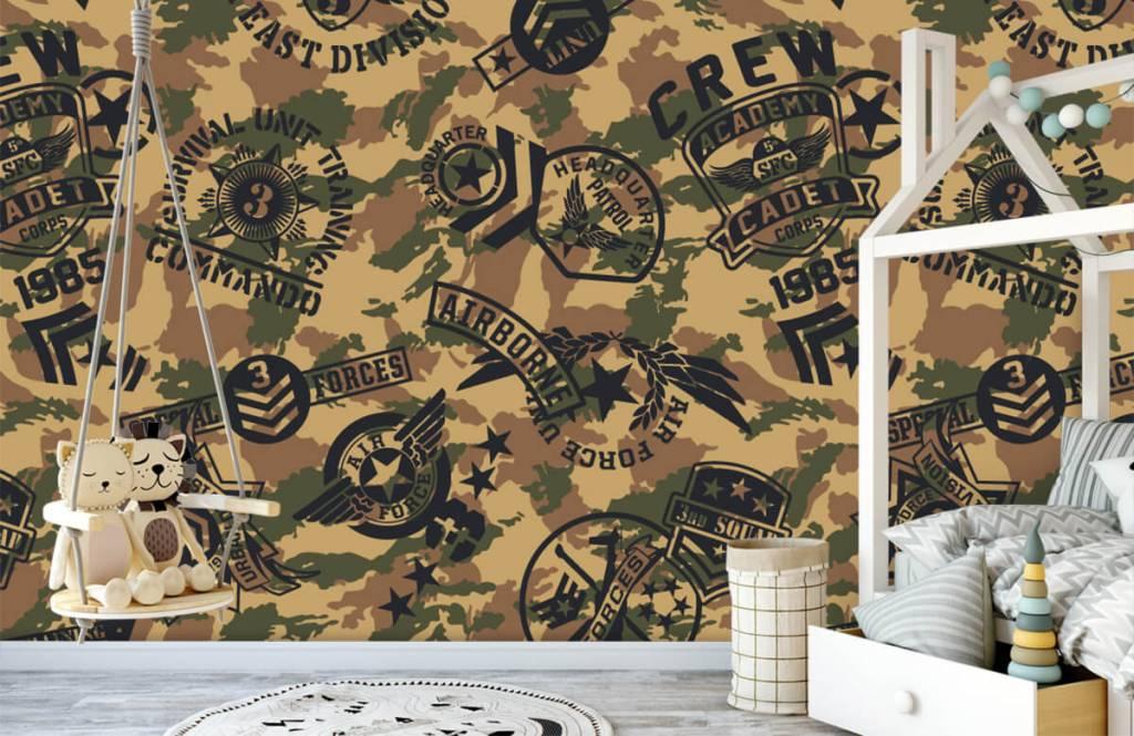 Overige - Camouflage met logo's - Kinderkamer 3