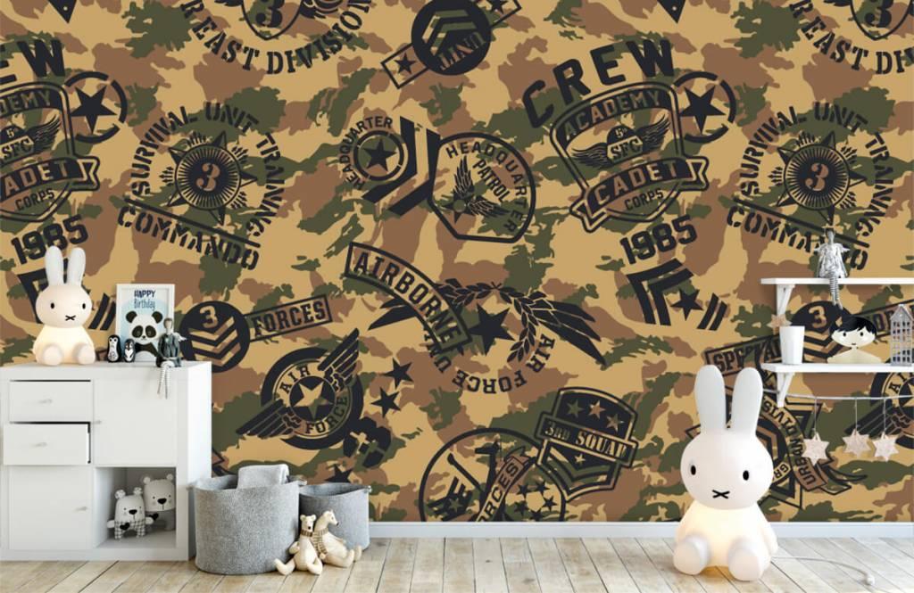 Overige - Camouflage met logo's - Kinderkamer 4