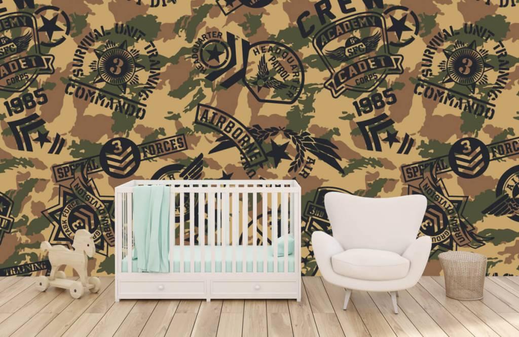 Overige - Camouflage met logo's - Kinderkamer 5