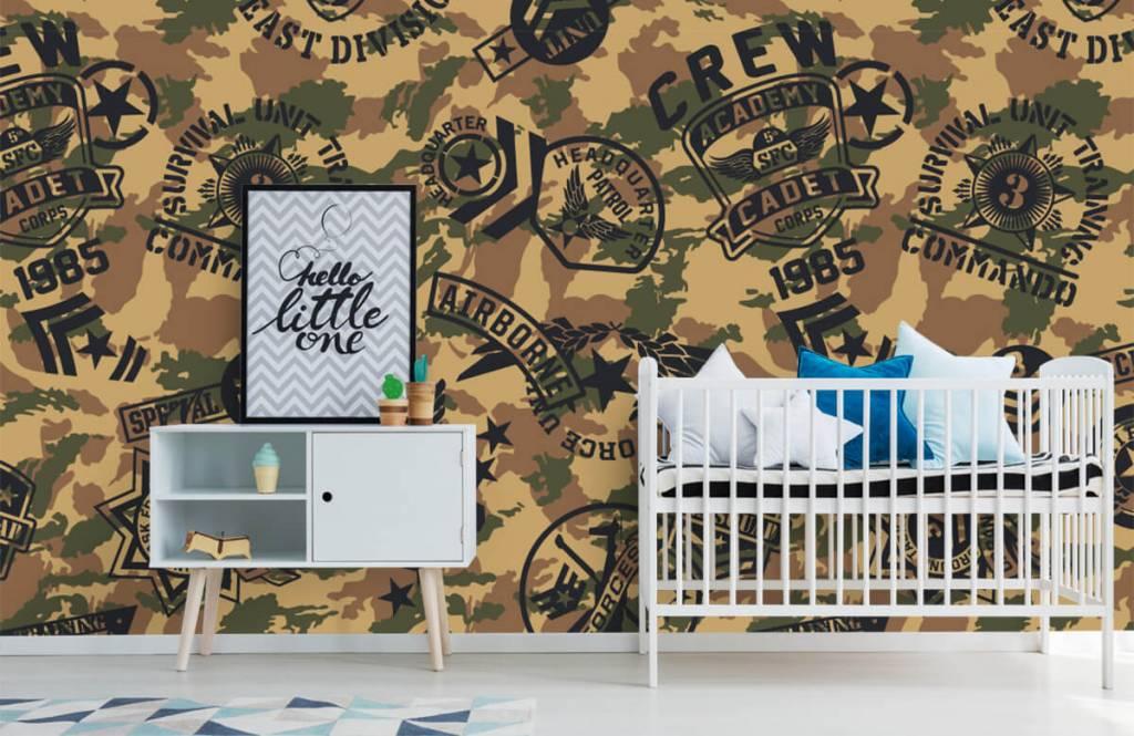 Overige - Camouflage met logo's - Kinderkamer 6