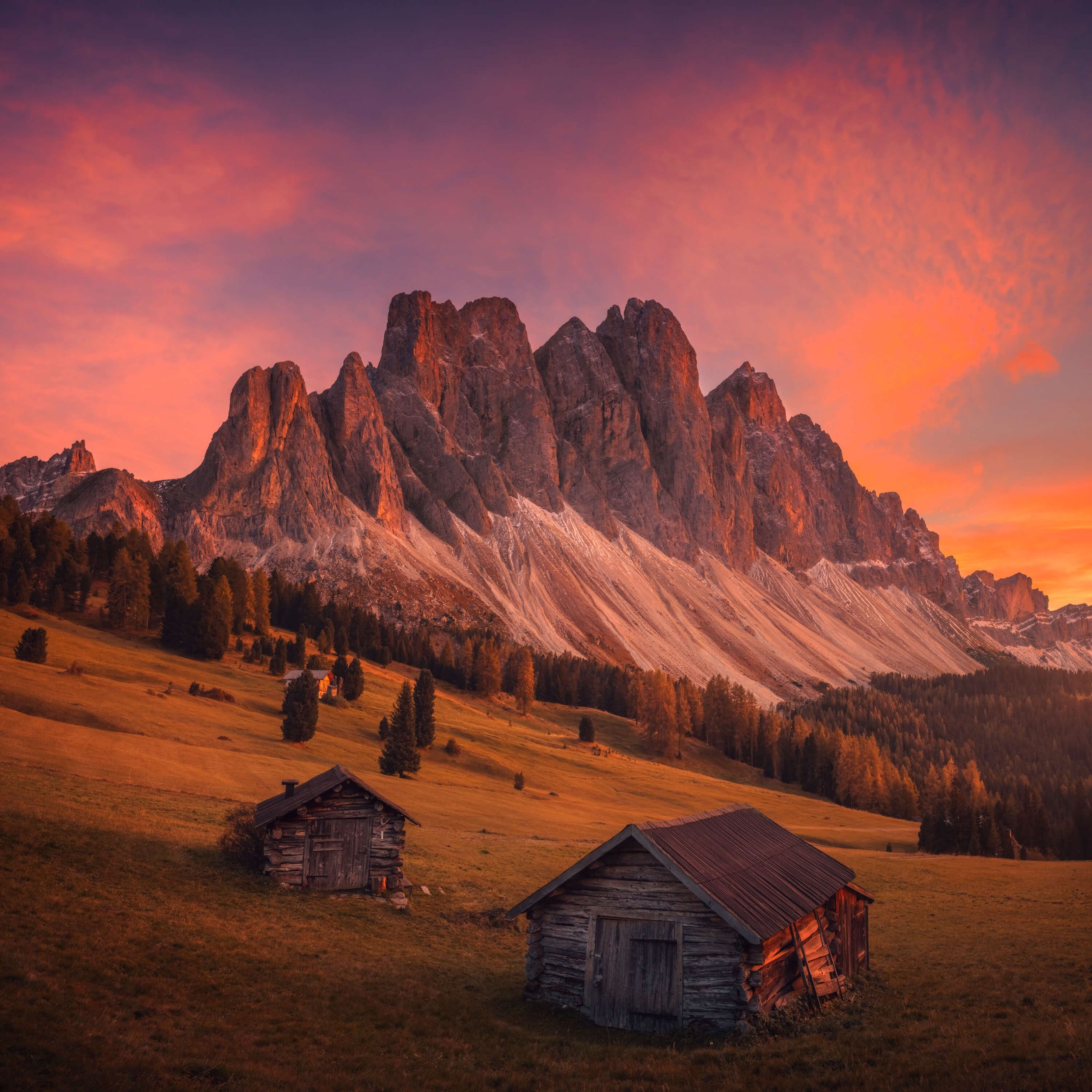 Cabins In The Dolomites