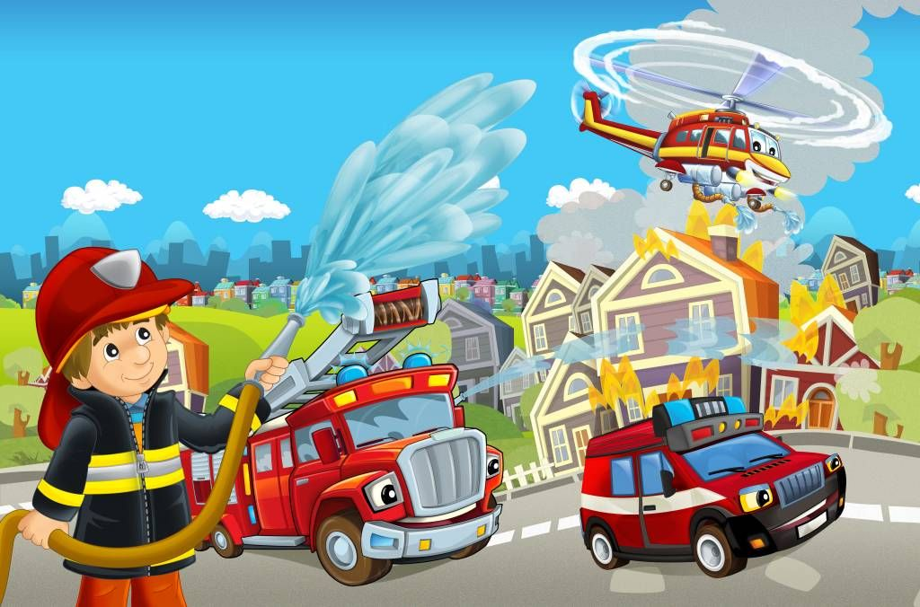 Illustraties - Brandweer kinderkamer - Kinderkamer
