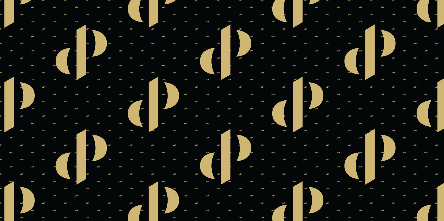 Pattern Dutch Performante - Logo, zwart met goud