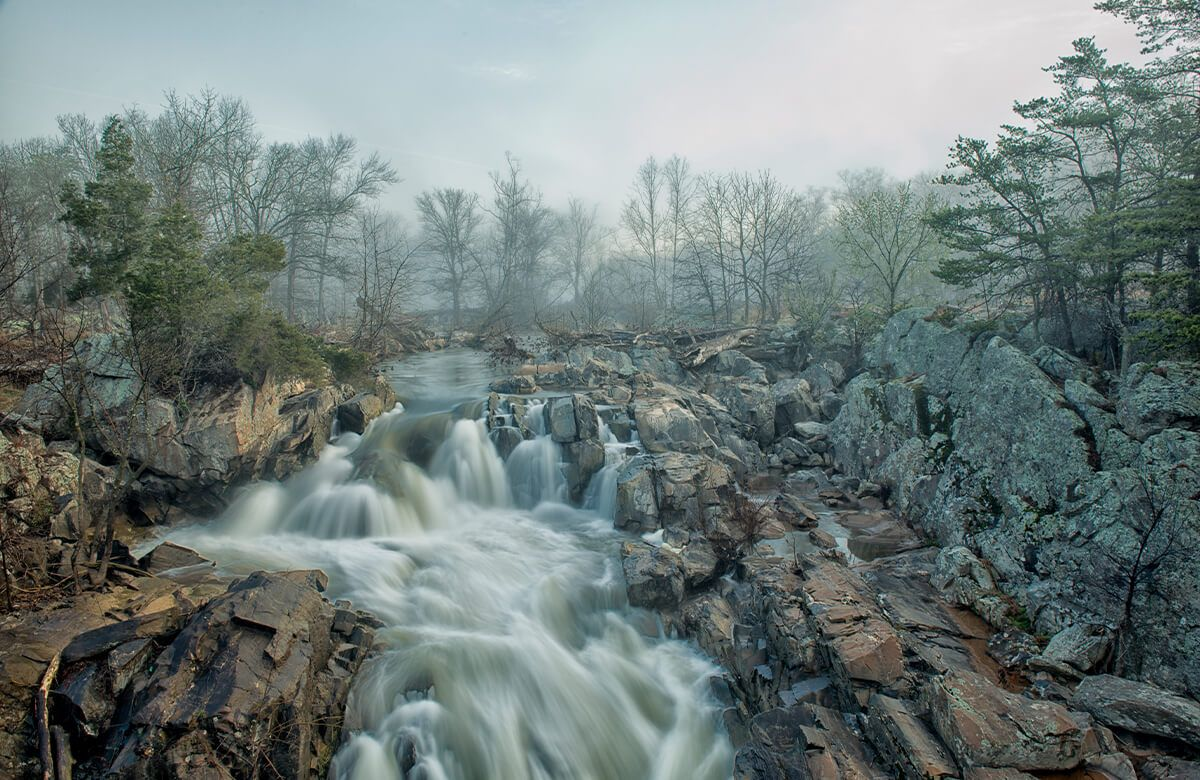 Dawn at Middle Falls