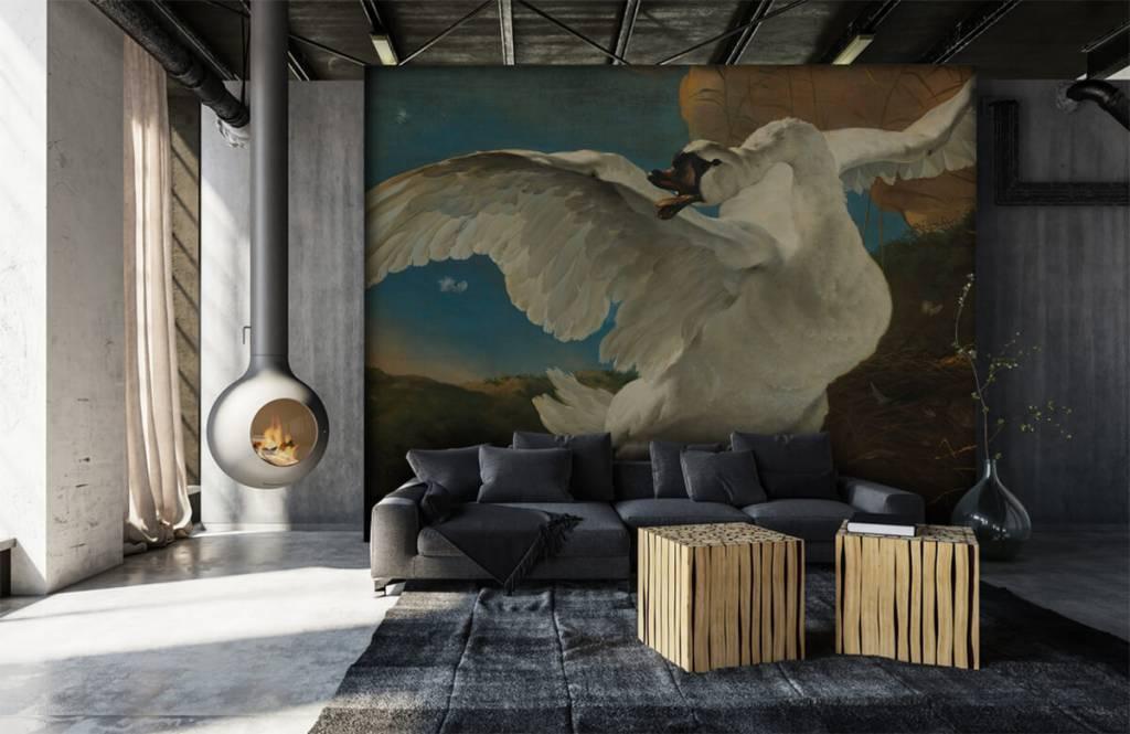 Vogel behang - De bedreigde zwaan - Keuken 1
