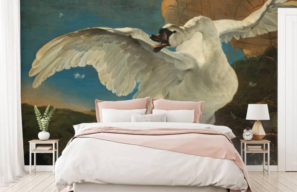 Vogel behang - De bedreigde zwaan - Keuken 2