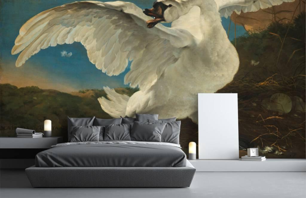 Vogel behang - De bedreigde zwaan - Keuken 3