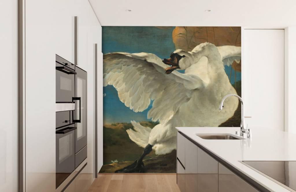 Vogel behang - De bedreigde zwaan - Keuken 4