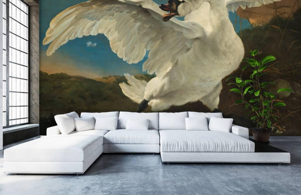 Vogel behang - De bedreigde zwaan - Keuken 5