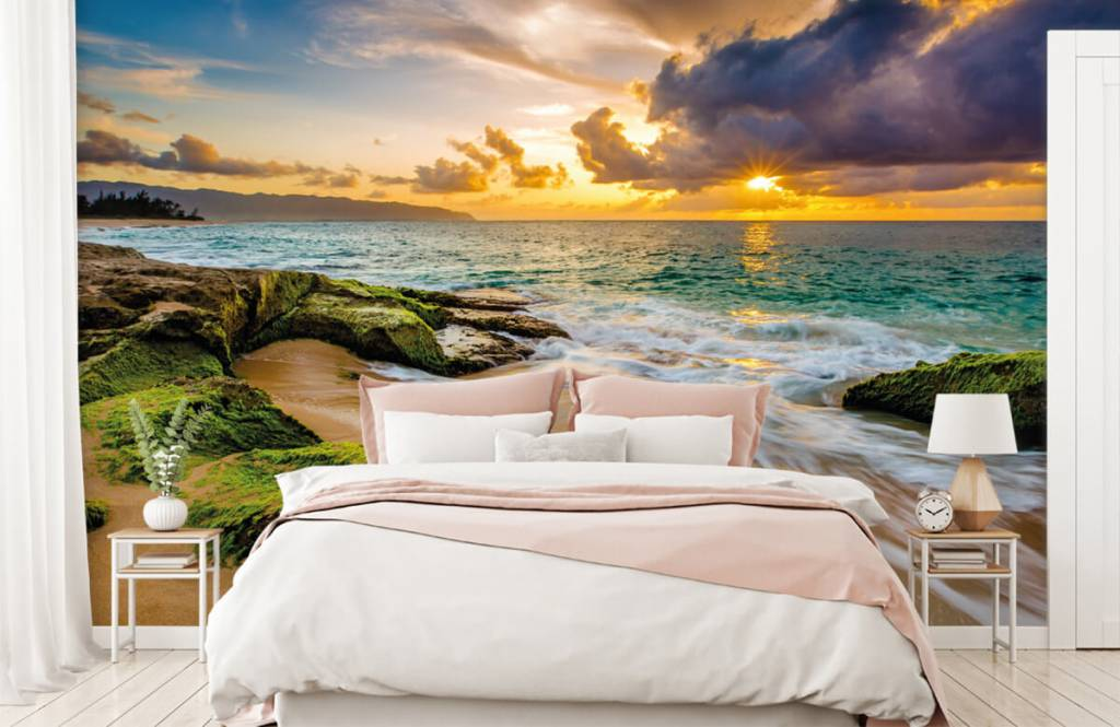 Landschap - Een prachtige Hawaiiaanse zonsondergang - Slaapkamer 1