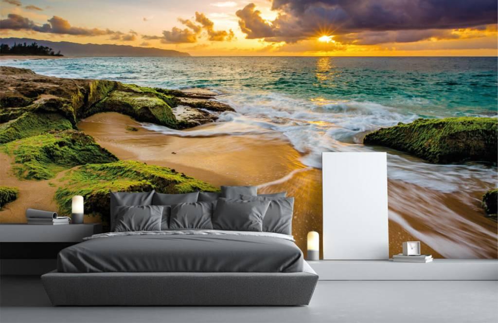 Landschap - Een prachtige Hawaiiaanse zonsondergang - Slaapkamer 2