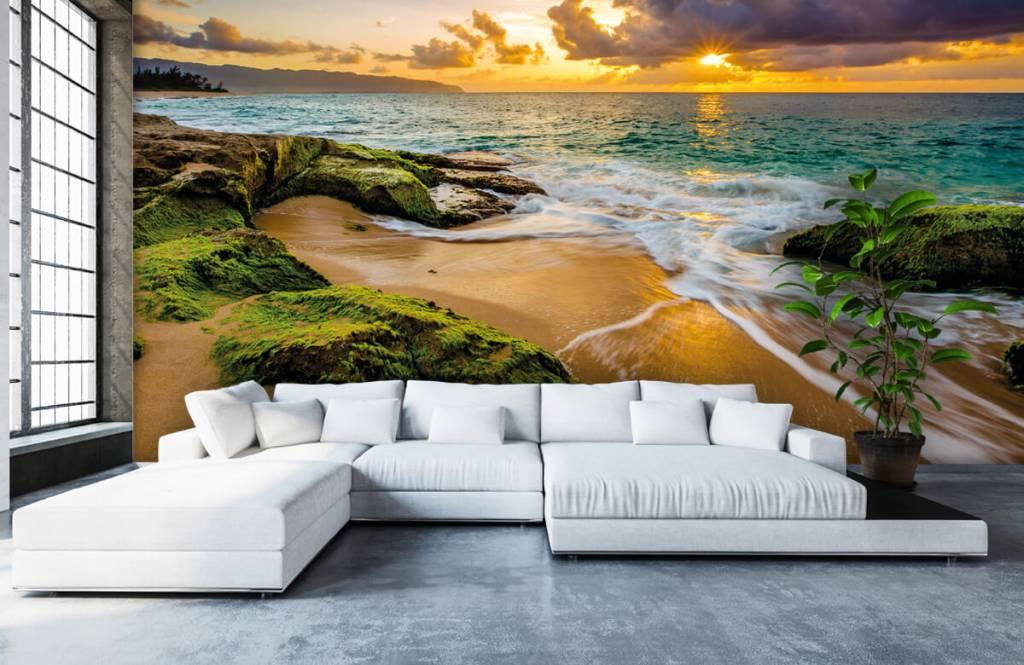 Landschap - Een prachtige Hawaiiaanse zonsondergang - Slaapkamer 4