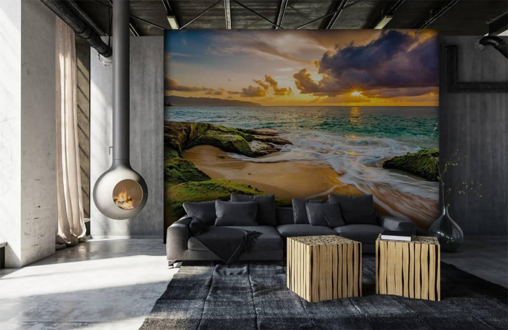 Landschap - Een prachtige Hawaiiaanse zonsondergang - Slaapkamer 5