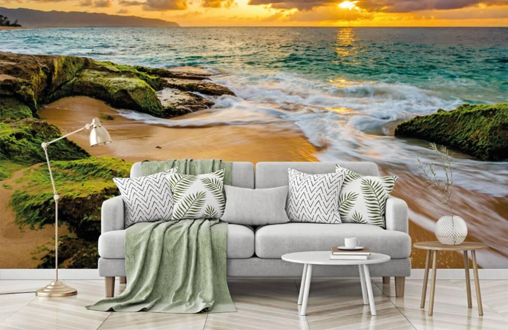 Landschap - Een prachtige Hawaiiaanse zonsondergang - Slaapkamer 6
