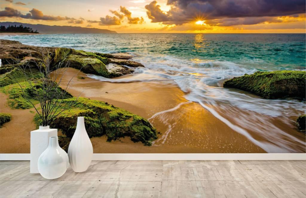 Landschap - Een prachtige Hawaiiaanse zonsondergang - Slaapkamer 7