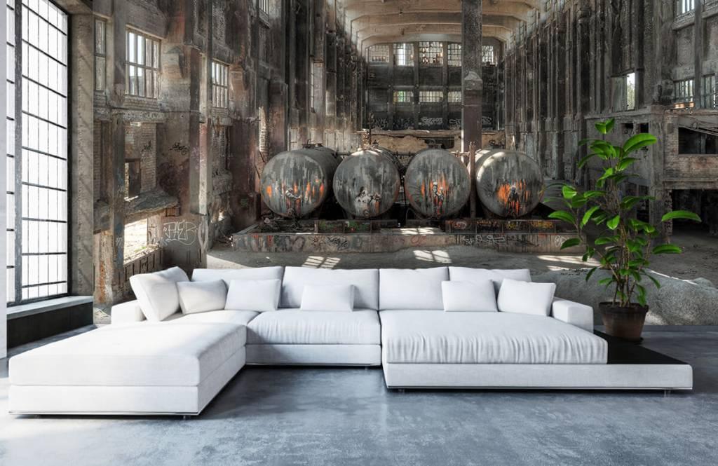 Gebouwen - Filmdecor fabriek - Garage 8